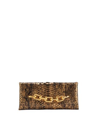 Python Chain Clutch Bag