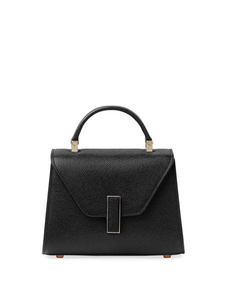 Valextra Iside Micro Saffiano Top-Handle Bag