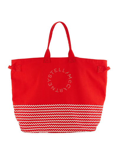 Striped Large Beach Tote Bag