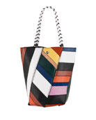 Proenza Schouler Hex Medium Colorful Patchwork Leather Bucket