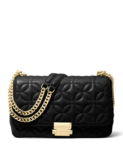 Quick Look Michael Kors Sloan Large Quilted Leather Chain Shoulder Bag