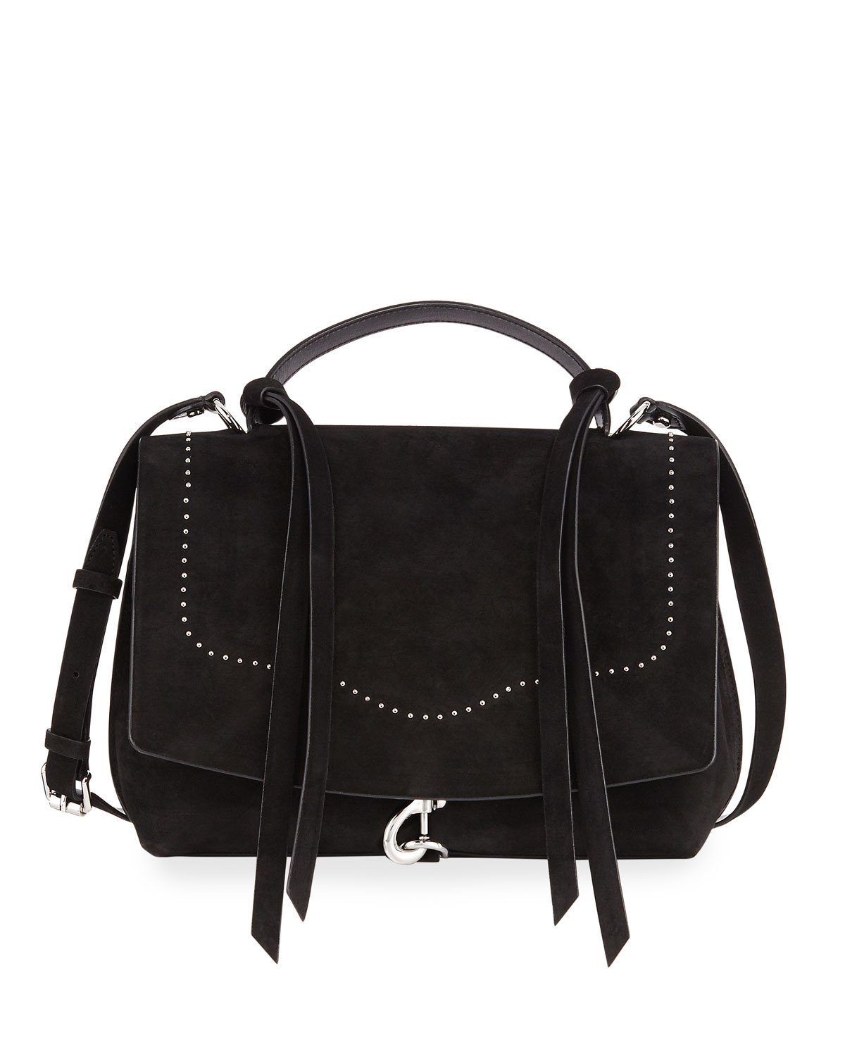 Stella Studded Suede Satchel Bag