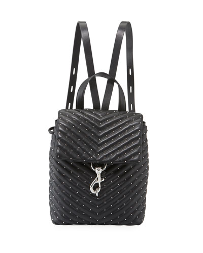 Edie Quilted Leather Flap Backpack