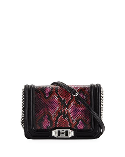 Love Small Snake-Print Crossbody Bag