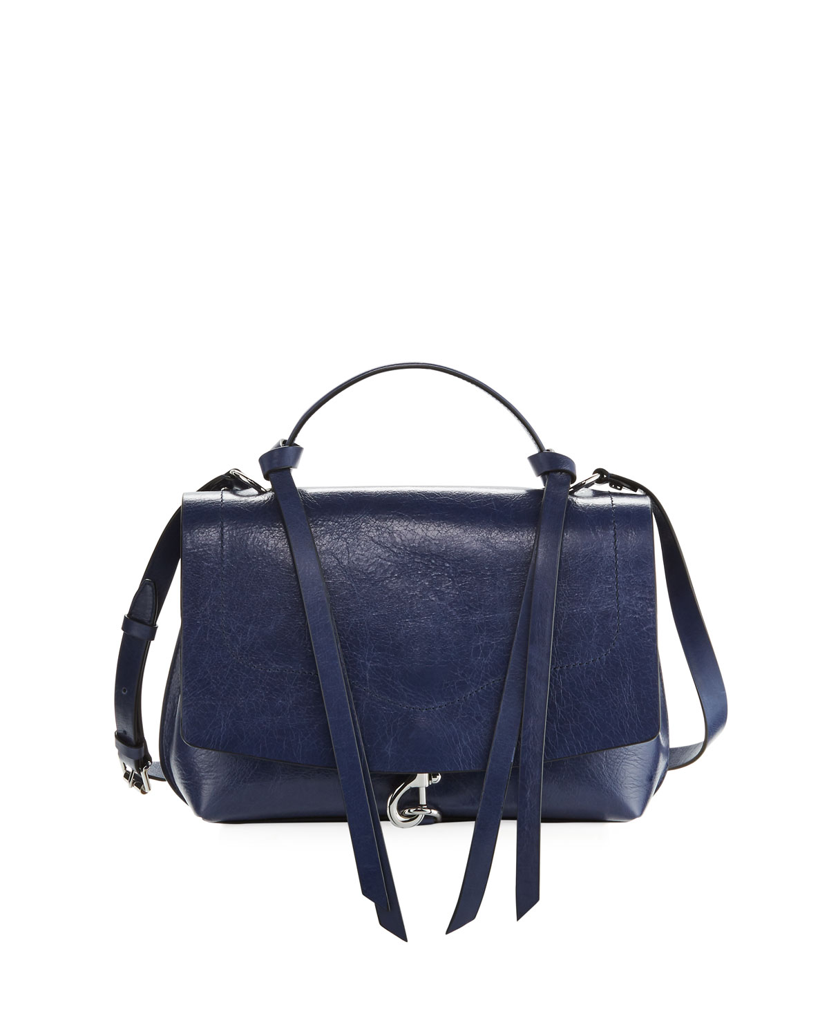 Stella Distressed Leather Satchel Bag