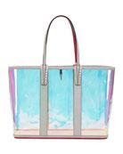 Christian Louboutin Cabata Glitter Sunset Vinyl Tote Bag
