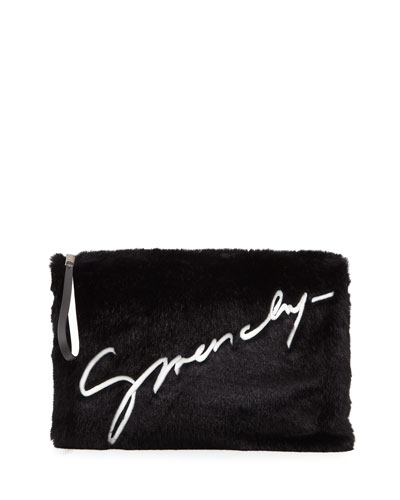 bbee2aab81ae Quick Look. Givenchy · Emblem Large Pouch Clutch Bag