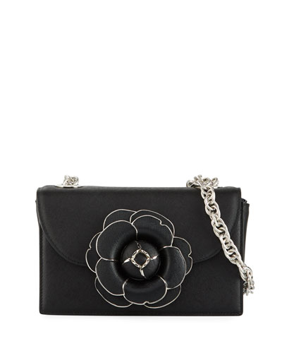 928ae5535ebe Quick Look. Oscar de la Renta · Tro Flower Leather Crossbody Bag - Silver  Hardware