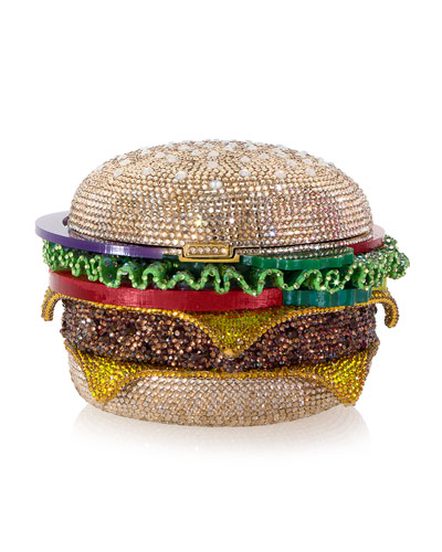 Hamburger Crystal Clutch Bag