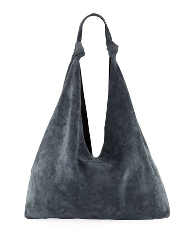 e36918d5b1 Quick Look. THE ROW · Bindle Double-Knots Suede Hobo Bag