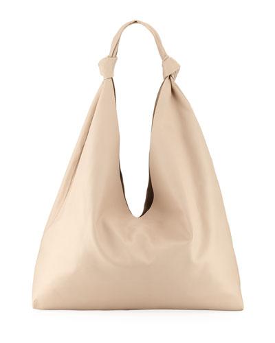 Leather Zip Hobo Bag  165aa0230f619