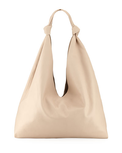 b8cb7ad634 Leather Zip Hobo Bag