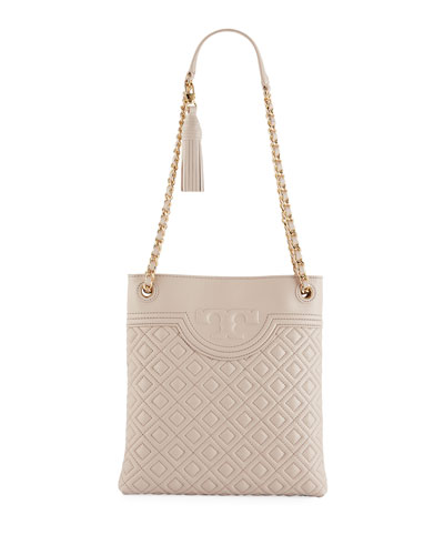 Fleming Diamond-Quilted Swing-Pack Tote Bag - Golden Hardware
