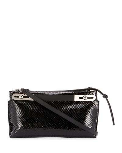 Missy Small Python Clutch Bag