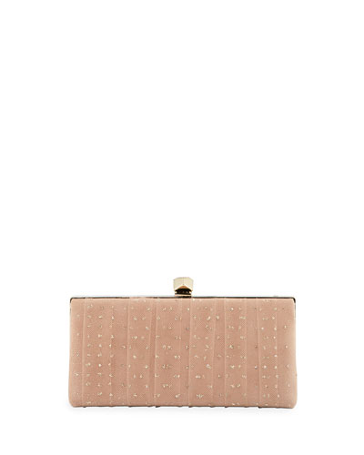 Celeste's Framed Glitter Tulle Clutch Bag