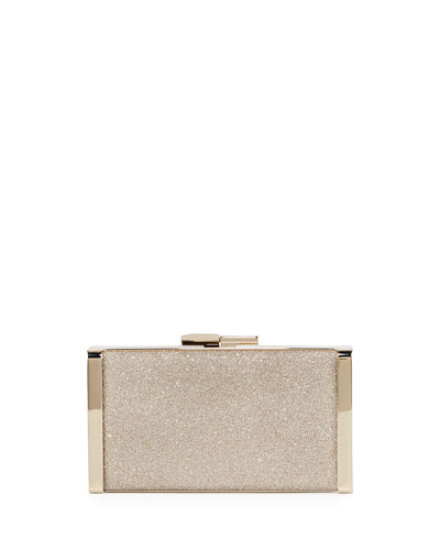 J Box Glittered Clutch Bag