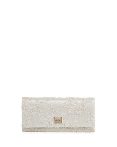 5dcbaf8c1b3 Quick Look. Jimmy Choo · Lilia Floral Lace Clutch Bag