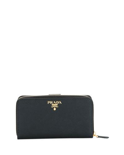 ba8c5744a2d Quick Look. Prada · Large Saffiano Tab Wallet