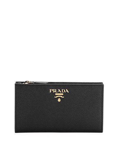 12f9dddb12bf8f Quick Look. Prada · Saffiano Wallet. Available in Black