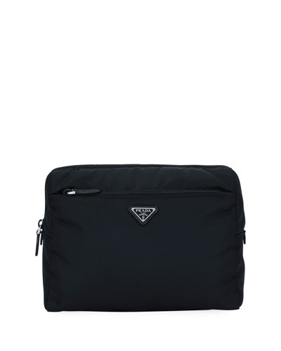 Large Nylon Beauty Pouch With Contrast Lining