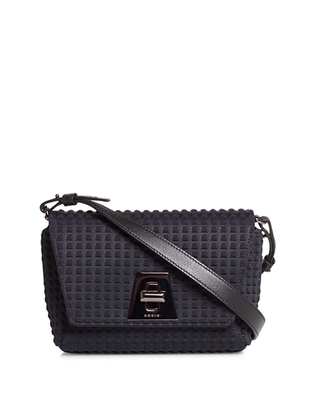 Anouk Little Day Techno Fabric Crossbody Bag
