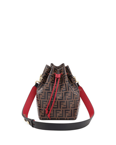 Mon Tresor Grande FF Calf Bucket Bag