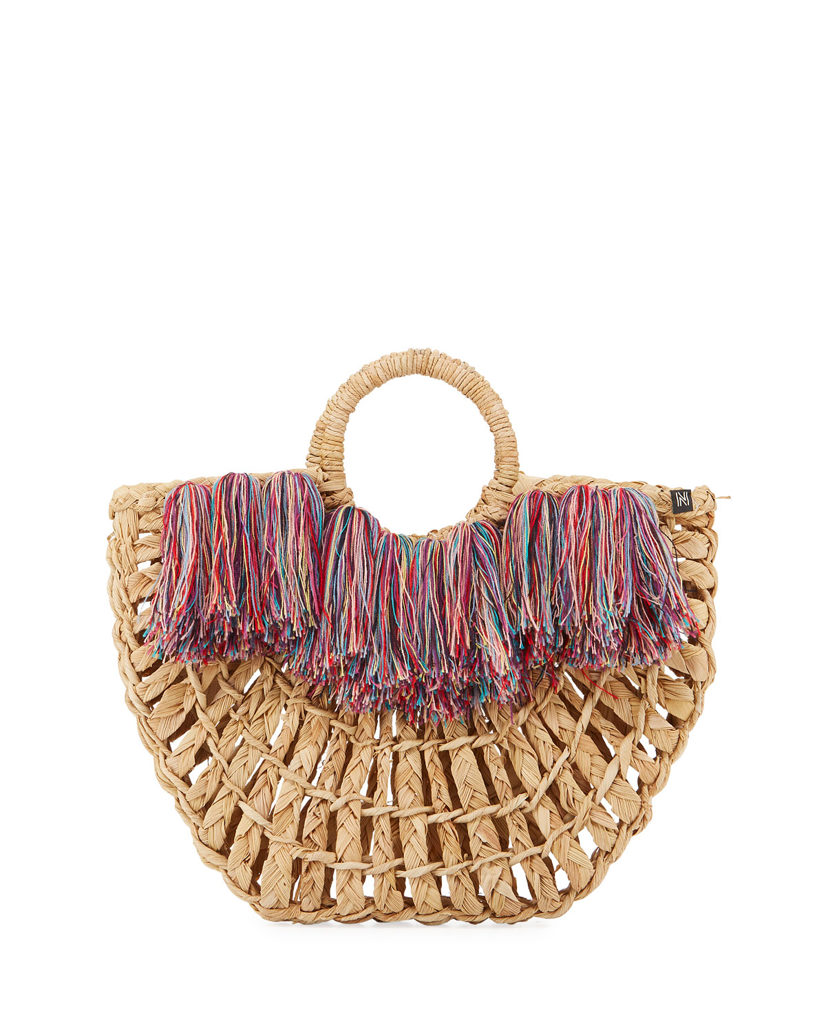 NANNACAY - COTIO Maria Leque Fringe Large Tote Bag in Off White
