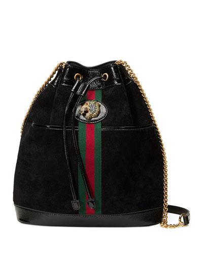 Rajah Medium Suede Bucket Bag