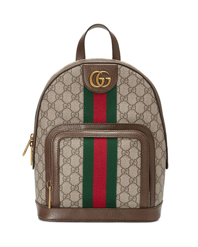 Ophidia GG Supreme Canvas Backpack
