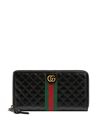 964b01f02e02ff Quick Look. Gucci · Trapuntata Leather Zip-Around Wallet. Available in Black