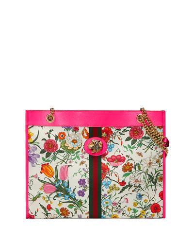 Quick Look. Gucci · Rajah Medium Floral-Print Tote Bag ... 142a51daa824f