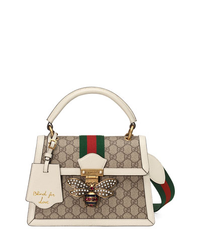 Queen Margaret Small GG Supreme Top-Handle Bag