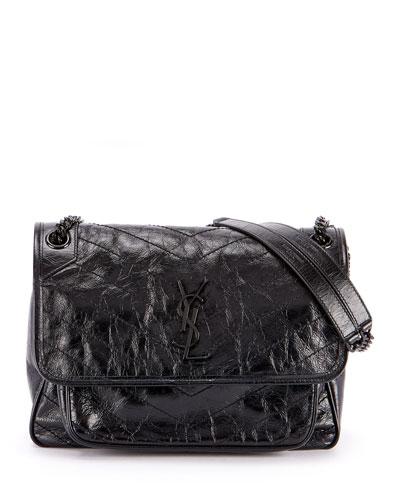 Niki Large Monogram YSL Flap Shoulder Bag