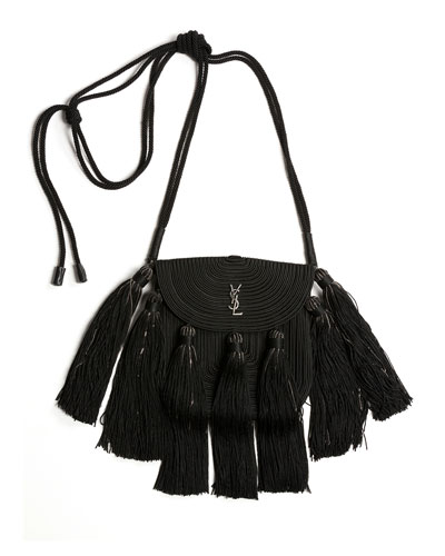 Vintage Passementerie Small Monogram YSL Shoulder Bag with Tassels - ...