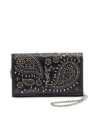 Saint Laurent Bandana Stud YSL Monogram Wallet On