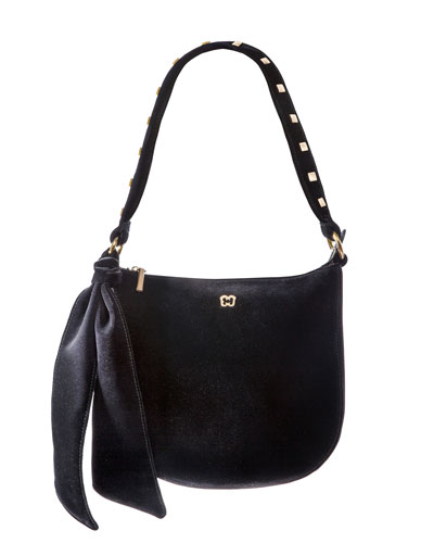 Velina Velvet Shoulder Bag