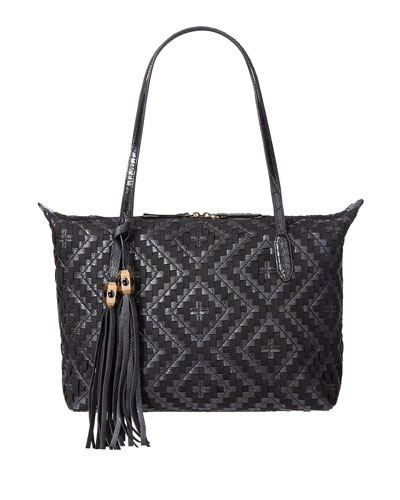 Kena Woven Tote Shoulder Bag