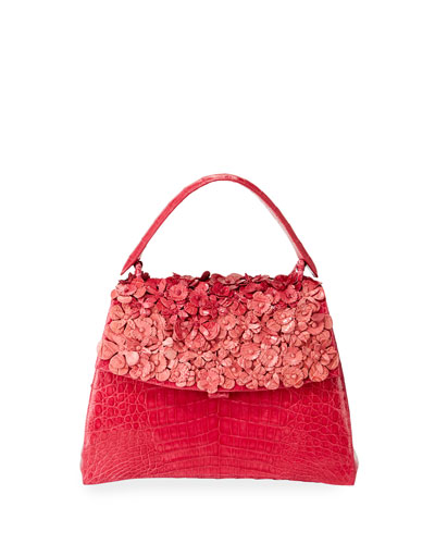 Jolene Small Floral Top Handle Bag