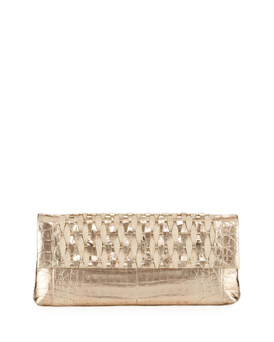 Gotham Woven Straw Clutch Bag