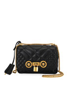 Versace Icon Small Quilted Napa Leather Crossbody Bag