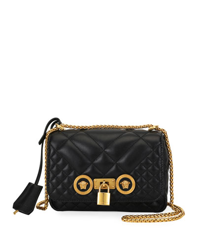 Icon Small Quilted Napa Leather Crossbody Bag with Medusa Detail