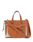 Loewe Gate Leather Top-Handle Tote Bag