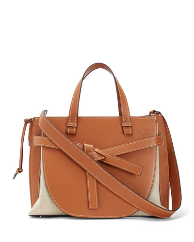 Gate Leather Top-Handle Tote Bag