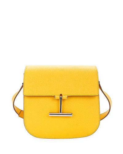 Tara Small Calf Leather T Clasp Crossbody Bag