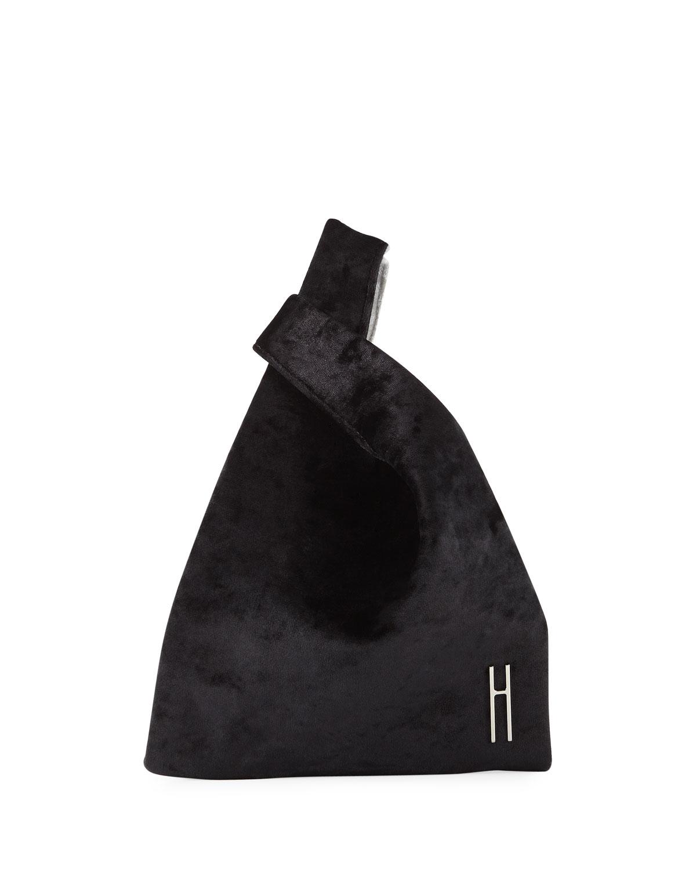 HAYWARD Mini Shopper Velvet Tote Bag, Black/White