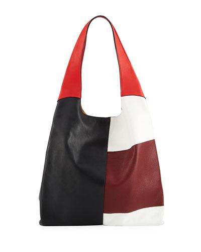 Grand Colorblock Leather Shopper Shoulder Bag