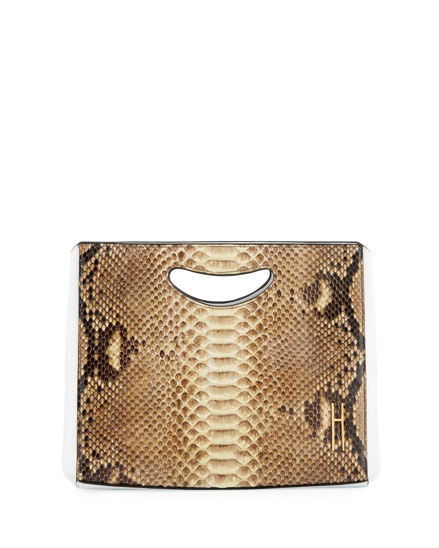 HAYWARD 1712 Python Basket Bucket Bag in Brown Pattern