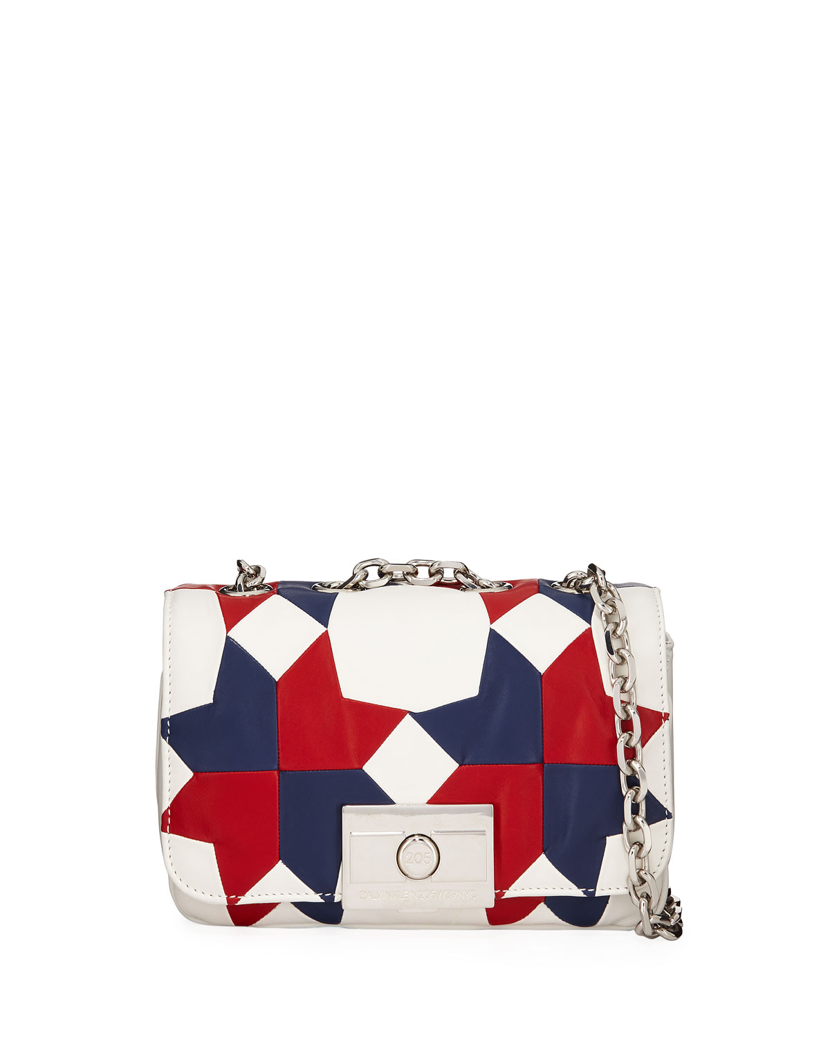 Billie Small Calf Leather Shoulder Bag in White