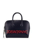 CALVIN KLEIN 205W39NYC Dalton Small Smooth Leather Top-Handle