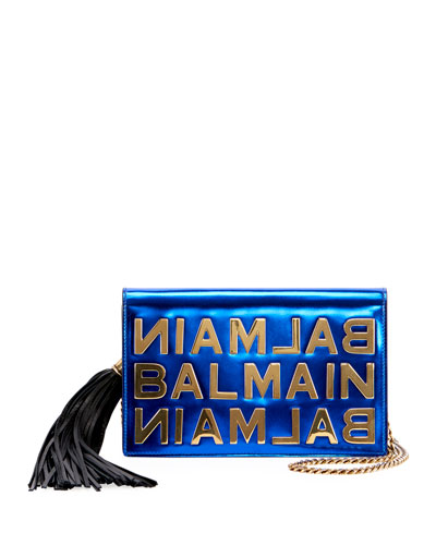Mirror Leather Pochette Crossbody Bag
